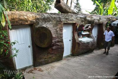 туалет в дереве
